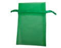 Hunter Green Sheer Organza Pouches Wedding 3x4