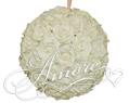 8 inches Silk Pomander Kissing Ball Light Ivory