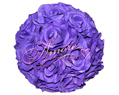 Purple Plum Pomander Kissing Ball Wedding 8 inches