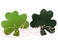 Silk Shamrock Leaves 600