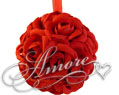 6 inches Silk Pomander Kissing Ball Red