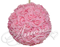 6 inches Silk Pomander Kissing Ball Pink