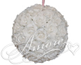 6 inches Silk Pomander Kissing Ball White