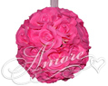 6 inches Silk Pomander Kissing Ball Fuchsia-Hot Pink