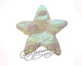 White Iridescent Stars Silk Wedding 100