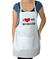 I Love My Husband Wedding Apron