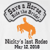 Brides Last Rodeo Wedding T Shirt