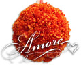 12 inches Silk Pomander Kissing Ball Gerbera Daisy Burnt-orange