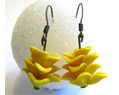 Handmade Polymer Clay Earrings - Yellow - Bridesmaid