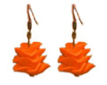 Handmade Polymer Clay Earrings Orange Bridesmaid