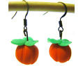 Handmade Polymer Clay Earrings Halloween Pumpkin