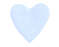 1000 Silk Rose Petals HEART Shape Sky  Blue