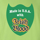 Saint Patrick's Day Made in USA with Irish Blood Funny T Shirt
