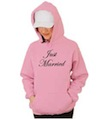 Just Married Wedding Hooded Sweatshirt