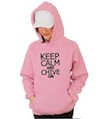 Keep Calm and Chive On Hooded Sweatshirt