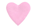 200 Silk Rose Petals HEART Shape Pink