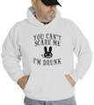 Halloween You Can't Scare Me I'm Drunk Hooded Sweatshirt