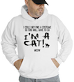 Halloween I'm A Cat Meow Hooded Sweatshirt