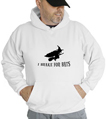 Halloween I Break For Bats Hooded Sweatshirt