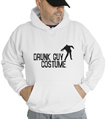 Halloween Drunk Guy Costume Hooded Sweatshirt
