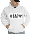Halloween Eek Boo Mmm Hooded Sweatshirt