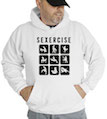 Funny Sexercise Hooded Sweatshirt