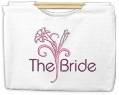 The Bride Canvas Tote with Wooden Handles Bag