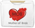 Mother of Bride Canvas Tote with Wooden Handles Bag