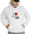 I Love Foxes Hooded Sweatshirt