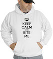Keep Calm and Bite Me Hooded Sweatshirt