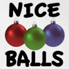 Nice Balls Funny Christmas Hooded Sweatshirt