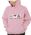 Peace Love Thanksgiving Hooded Sweatshirt