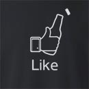 Facebook Like Beer Bottle Crew Neck Sweatshirt