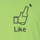Facebook Like Beer Bottle Long Sleeve T-Shirt