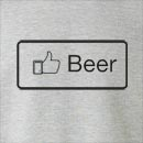 Facebook Like Beer Crew Neck Sweatshirt