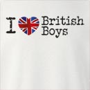I Love British Boys Crew Neck Sweatshirt