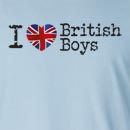 I Love British Boys Long Sleeve T-Shirt