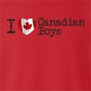 I Love Canadian Boys Crew Neck Sweatshirt