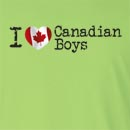 I Love Canadian Boys Long Sleeve T-Shirt