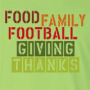 Food Family Football Giving Thanks Long Sleeve T-Shirt
