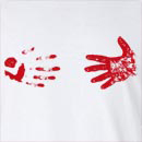 Halloween Bloody Hand Stains Long Sleeve T-Shirt
