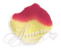 1000 Silk Rose Petals Athena-Yellow and Red