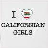 I Love California Girls Hooded Sweatshirt
