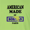 American Made of Bosnia and Herzegovina Parts Long Sleeve T-Shirt