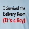I Survived The Delivery Room(It's A Boy) Long Sleeve T-Shirt