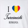 I Love Turcinesti Romania Long Sleeve T-Shirt