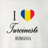 I Love Turcinesti Romania Crew Neck Sweatshirt
