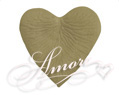 Sage Silk Rose Petals Wedding Heart Shaped 200