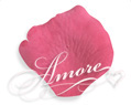 1000 Silk Rose Petals Watermelon-Fuchsia
