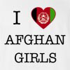 I Love Afghanisthan Girls T-Shirt
